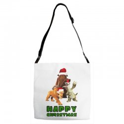 sid manfred diego happy christmas for light Adjustable Strap Totes | Artistshot