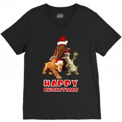sid manfred diego happy chistmas for dark V-Neck Tee | Artistshot