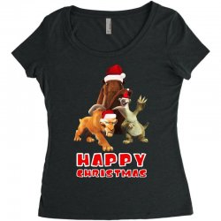 sid manfred diego happy chistmas for dark Women's Triblend Scoop T-shirt | Artistshot