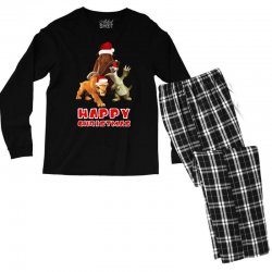 sid manfred diego happy chistmas for dark Men's Long Sleeve Pajama Set | Artistshot