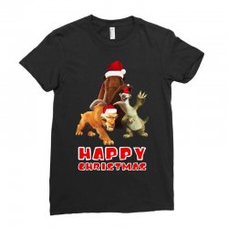 sid manfred diego happy chistmas for dark Ladies Fitted T-Shirt | Artistshot