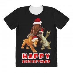 sid manfred diego happy chistmas for dark All Over Women's T-shirt | Artistshot