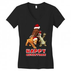 sid manfred diego happy chistmas for dark Women's V-Neck T-Shirt | Artistshot