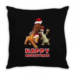 sid manfred diego happy chistmas for dark Throw Pillow | Artistshot