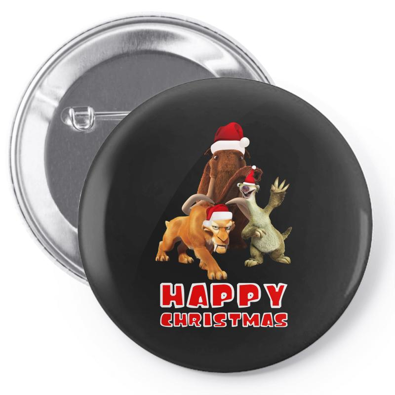 Sid Manfred Diego Happy Chistmas For Dark Pin-back Button | Artistshot