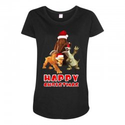 sid manfred diego happy chistmas for dark Maternity Scoop Neck T-shirt | Artistshot