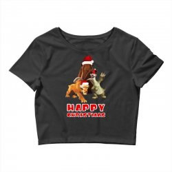 sid manfred diego happy chistmas for dark Crop Top | Artistshot