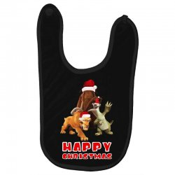 sid manfred diego happy chistmas for dark Baby Bibs | Artistshot