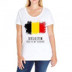 This is my country - Belgium Ladies Curvy T-Shirt | Artistshot