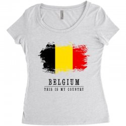 This is my country - Belgium Women's Triblend Scoop T-shirt | Artistshot