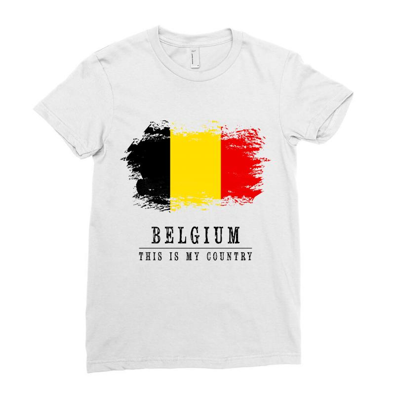 This Is My Country - Belgium Ladies Fitted T-shirt | Artistshot