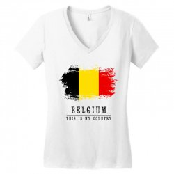 This is my country - Belgium Women's V-Neck T-Shirt | Artistshot