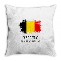 This is my country - Belgium Throw Pillow | Artistshot