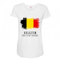 This is my country - Belgium Maternity Scoop Neck T-shirt | Artistshot