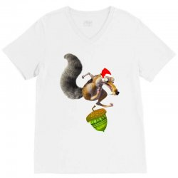ariscratle and christmas acorn V-Neck Tee | Artistshot