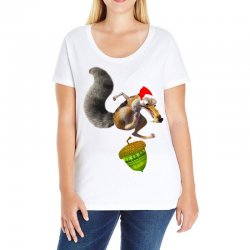 ariscratle and christmas acorn Ladies Curvy T-Shirt | Artistshot