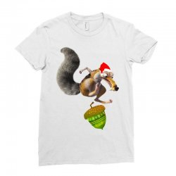 ariscratle and christmas acorn Ladies Fitted T-Shirt | Artistshot