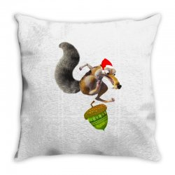 ariscratle and christmas acorn Throw Pillow | Artistshot
