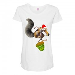 ariscratle and christmas acorn Maternity Scoop Neck T-shirt | Artistshot
