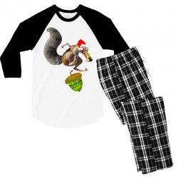 ariscratle and christmas acorn Men's 3/4 Sleeve Pajama Set | Artistshot