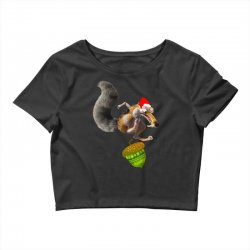 ariscratle and christmas acorn Crop Top | Artistshot