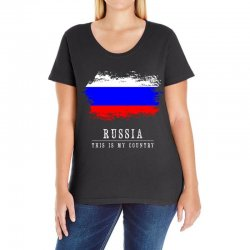 This is my country - Russia Ladies Curvy T-Shirt | Artistshot