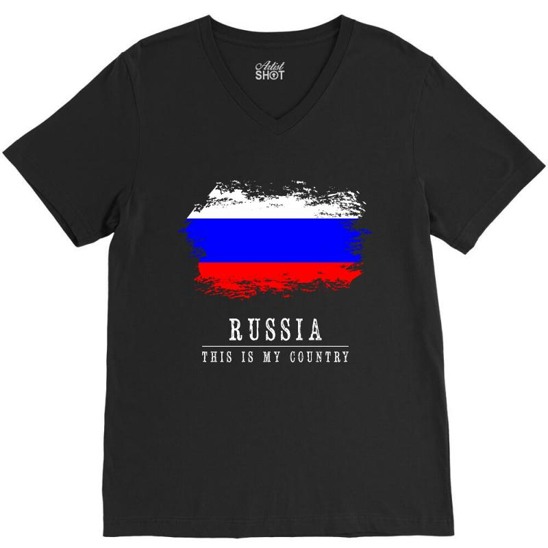 This Is My Country - Russia V-neck Tee | Artistshot