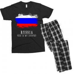 This is my country - Russia Men's T-shirt Pajama Set | Artistshot