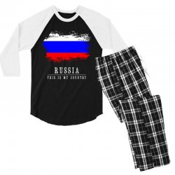 This is my country - Russia Men's 3/4 Sleeve Pajama Set | Artistshot