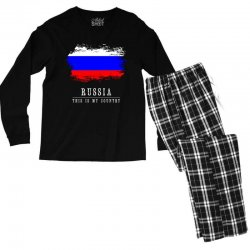 This is my country - Russia Men's Long Sleeve Pajama Set | Artistshot