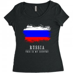 This is my country - Russia Women's Triblend Scoop T-shirt | Artistshot
