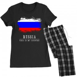 This is my country - Russia Women's Pajamas Set | Artistshot
