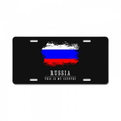 This is my country - Russia License Plate | Artistshot