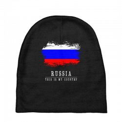 This is my country - Russia Baby Beanies | Artistshot