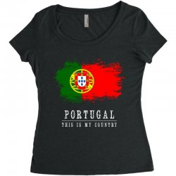 This is my country - Portugal Women's Triblend Scoop T-shirt | Artistshot