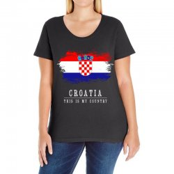 This is my country - Croatia Ladies Curvy T-Shirt | Artistshot