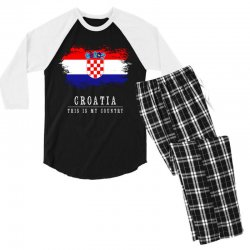 This is my country - Croatia Men's 3/4 Sleeve Pajama Set | Artistshot
