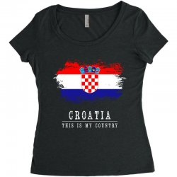 This is my country - Croatia Women's Triblend Scoop T-shirt | Artistshot