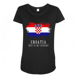 This is my country - Croatia Maternity Scoop Neck T-shirt | Artistshot