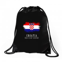 This is my country - Croatia Drawstring Bags | Artistshot