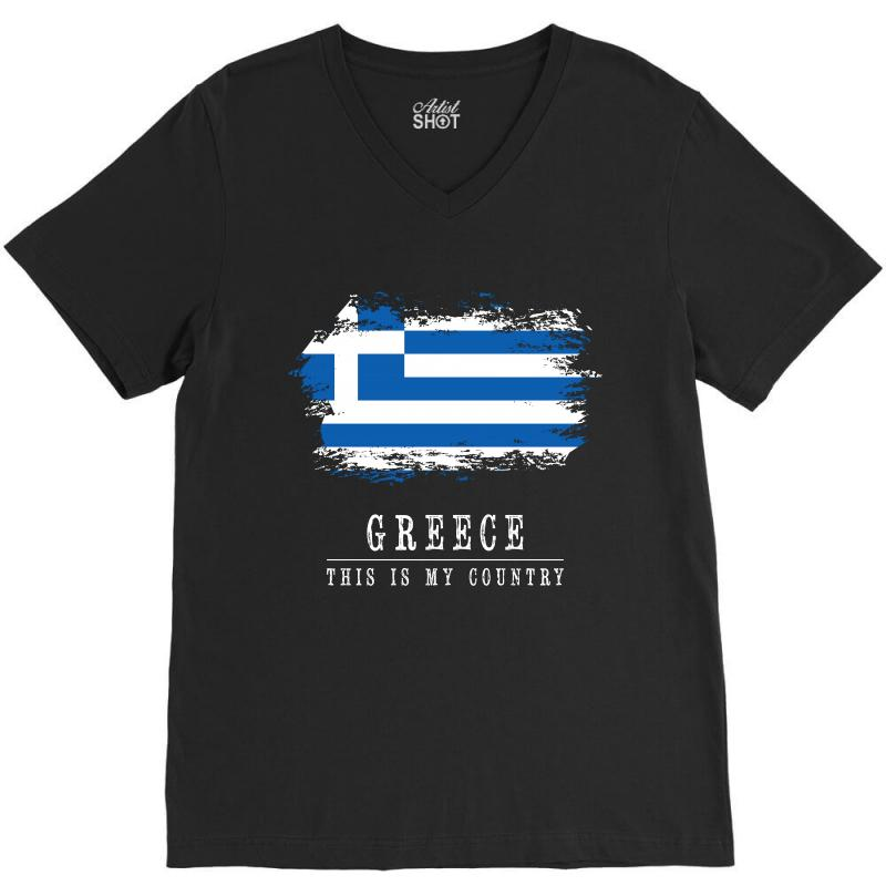 This Is My Country - Greece V-neck Tee | Artistshot