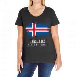 This is my country - Iceland Ladies Curvy T-Shirt | Artistshot