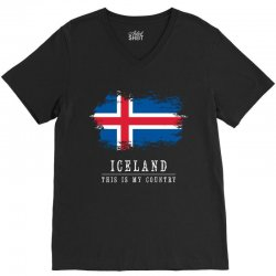 This is my country - Iceland V-Neck Tee | Artistshot