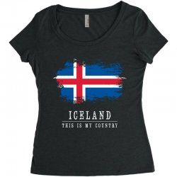 This is my country - Iceland Women's Triblend Scoop T-shirt | Artistshot