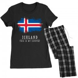 This is my country - Iceland Women's Pajamas Set | Artistshot