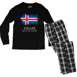 This is my country - Iceland Men's Long Sleeve Pajama Set | Artistshot