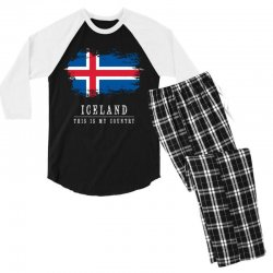 This is my country - Iceland Men's 3/4 Sleeve Pajama Set | Artistshot
