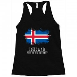 This is my country - Iceland Racerback Tank | Artistshot