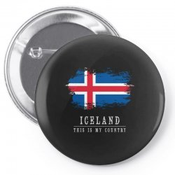 This is my country - Iceland Pin-back button | Artistshot