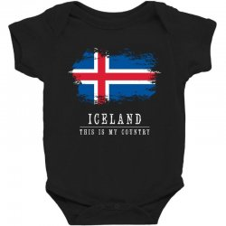 This is my country - Iceland Baby Bodysuit | Artistshot